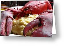 Lobster Dinner Greeting Card