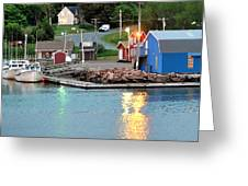 Lobster Fishing Days End Greeting Card