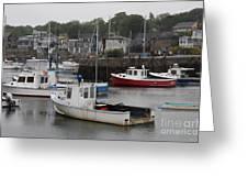 Lobster Fleet Rockport Harbor Greeting Card