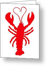 Lobster Love Heart Feelers Greeting Card