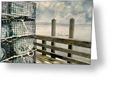 Lobster Nets Greeting Card