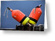 Lobster Pot Buoys Greeting Card