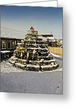 Lobster Pot Christmas Tree 3 Greeting Card