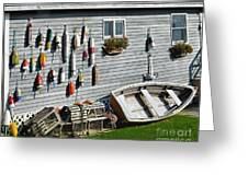 Lobster Pots And Buoys Greeting Card