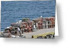 Lobster Pots Greeting Card