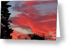 Lobster Sky Greeting Card