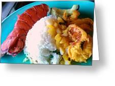 Lobster Tales  Greeting Card by Denisse Del Mar Guevara