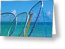 Florida Lobster Diving Tools Greeting Card