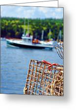 Lobster Trap In Maine Greeting Card