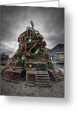 Lobster Trap Tree Greeting Card by Eric Gendron
