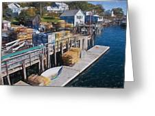 Lobster Traps At New Harbor Greeting Card
