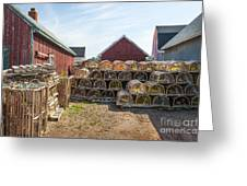 Lobster Traps In North Rustico Greeting Card