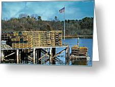 Lobster Traps Off Season Greeting Card