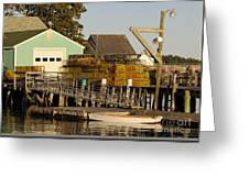 Lobster Traps On Dock Greeting Card
