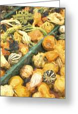 Local Glazed Gourds Painterly Effect Greeting Card