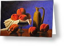 Local Peaches Oil Painting Greeting Card