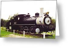 Locamotive Engine Landscape Greeting Card