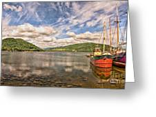 Loch Fyne Digital Painting Greeting Card