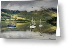 Loch Leven Sailboats Greeting Card