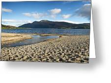 Loch Lomond Pano Greeting Card by Jane Rix