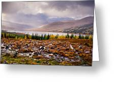 Loch Loyne Cairns Greeting Card