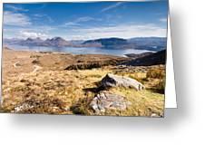 Loch Torridon From Bealach Na Gaoithe Greeting Card