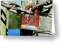 Lock And Chain Greeting Card