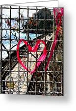 Lock And Love.cinque Terre.italy Greeting Card