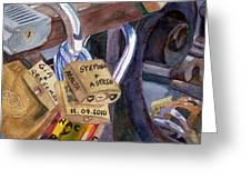 Locks Of Luck Greeting Card
