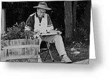 Locke Artist In Spring Greeting Card