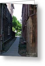 Locke Chinatown Series -  Alleyway With Trees - 4 Greeting Card
