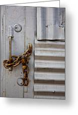 Locked Greeting Card by Peter Tellone
