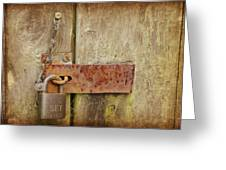 Locked Shut Greeting Card