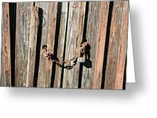 Locked Wood Greeting Card