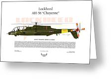 Lockheed Ah-56 Cheyenne Greeting Card by Arthur Eggers