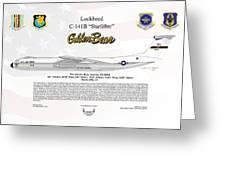 Lockheed C-141b Starlifter Golden Bear Greeting Card