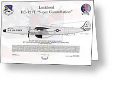 Lockheed Ec-121t Super Constellation Greeting Card
