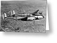 Lockheed P-38 Lightning Fighter Greeting Card