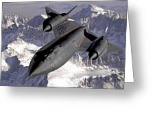 Lockheed Sr-71 Blackbird Greeting Card