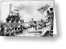 Locomotive, 1929 Greeting Card