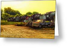 Locomotive Graveyard Greeting Card