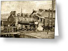 Locomotive No. 15 In The Yard Greeting Card