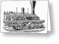 Locomotive Sandusky, 1837 Greeting Card