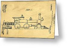 Locomotive Support Patent Drawing From 1915 1 Greeting Card