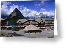 Lodge At Many Glacier, Glacier National Greeting Card