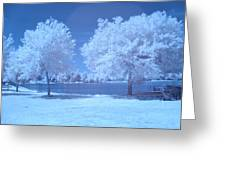 Lodge Lake Greeting Card