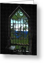 Lodge Window At The Clearing Greeting Card