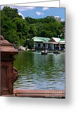 Loeb Boathouse Central Park Greeting Card by Amy Cicconi