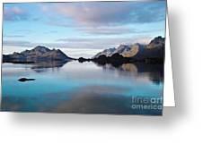 Lofoten Islands Water World Greeting Card