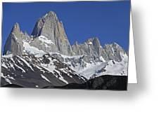 Lofty Mount Fitz Roy Greeting Card